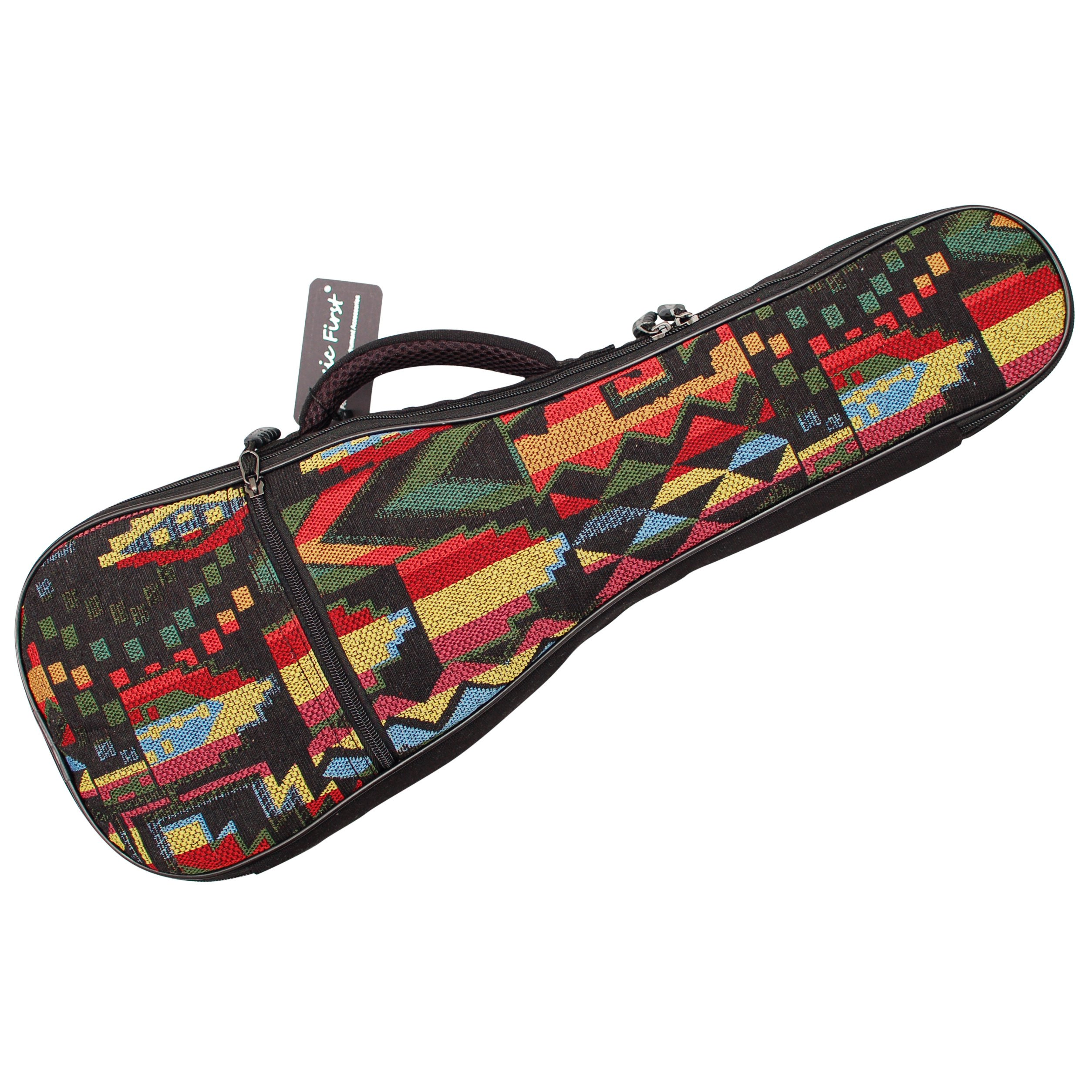 MUSIC FIRST Cotton Woven''THE NATIVE'' Vintage Style Ukulele case ukulele bag ukulele gig bag (26~27 inch Tenor, The Native)