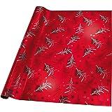 Sigel GP112 Weihnachts-Geschenkpapier rot, exclusiv, 1 Rolle 2m x 70cm, mit Metallic Effekt