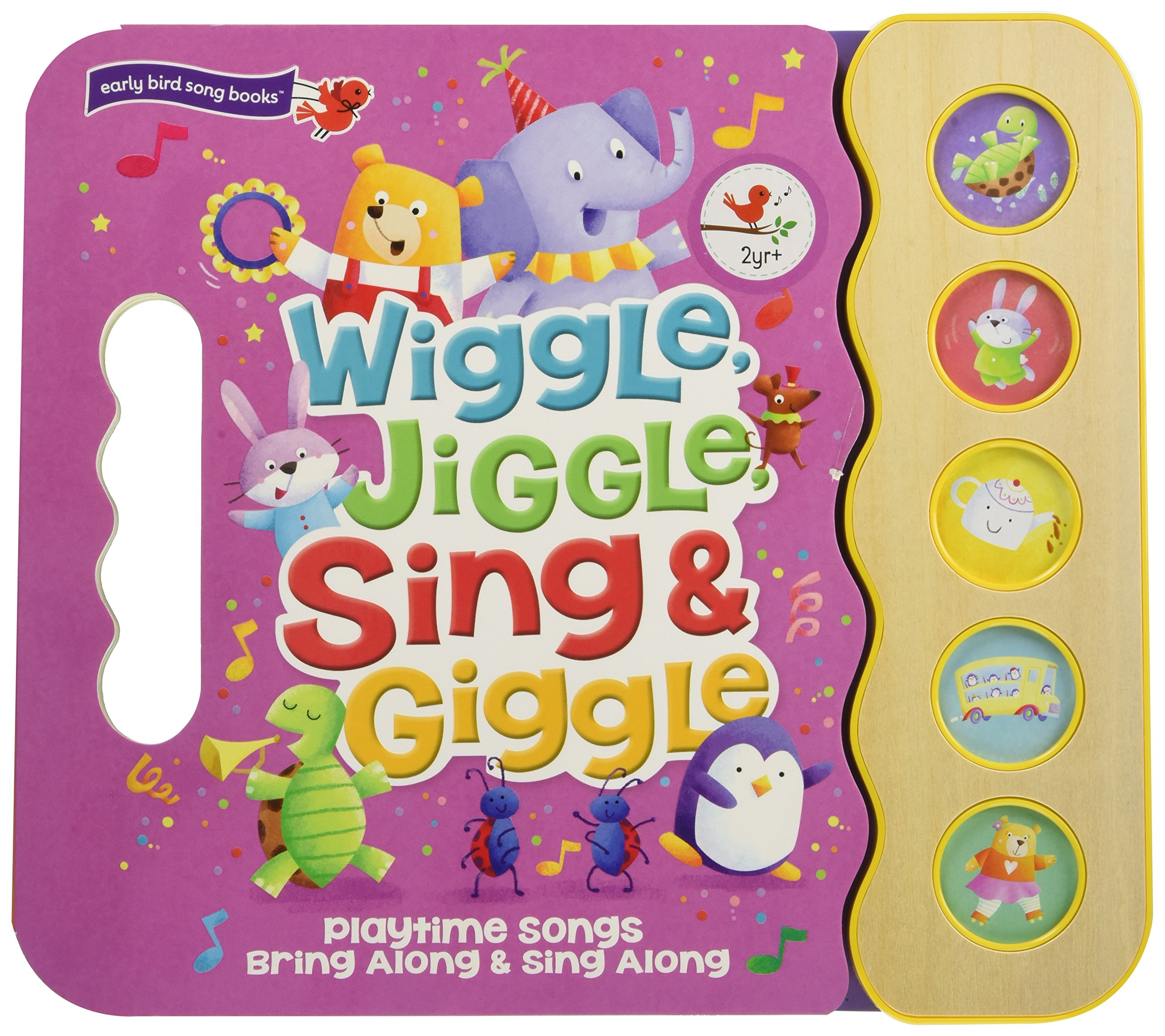 Wiggle, Jiggle, Sing & Giggle: Children's Sound Book (5 Button Sound) by Cottage Door Press (Image #1)