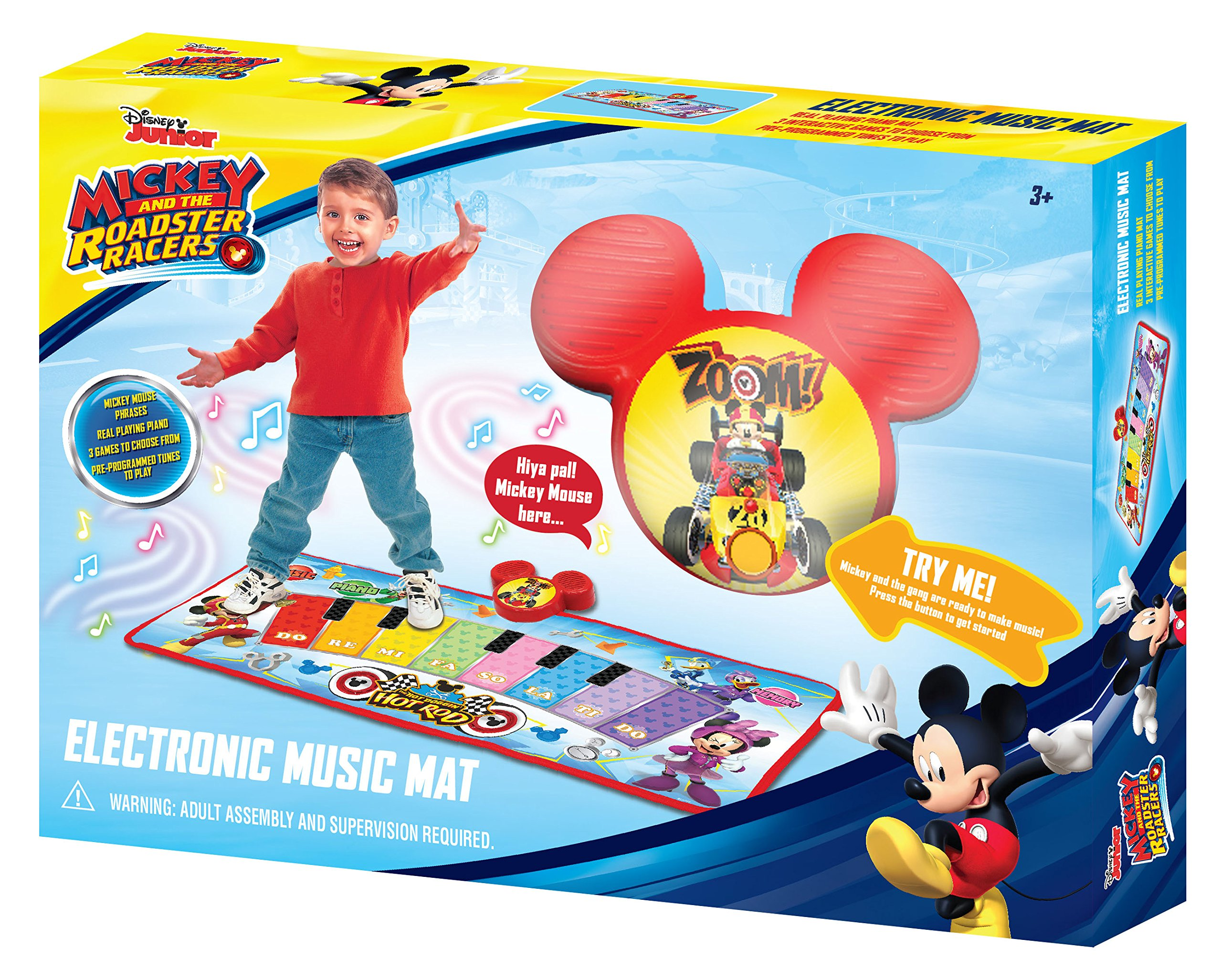 Mickey and the Roadster Racers Electronic Music Play Mat, Multicolor by Mickey and the Roadster Racers (Image #3)