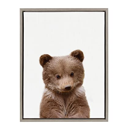 Amazon.com: Kate and Laurel - Sylvie Baby Bear Animal Print Portrait ...