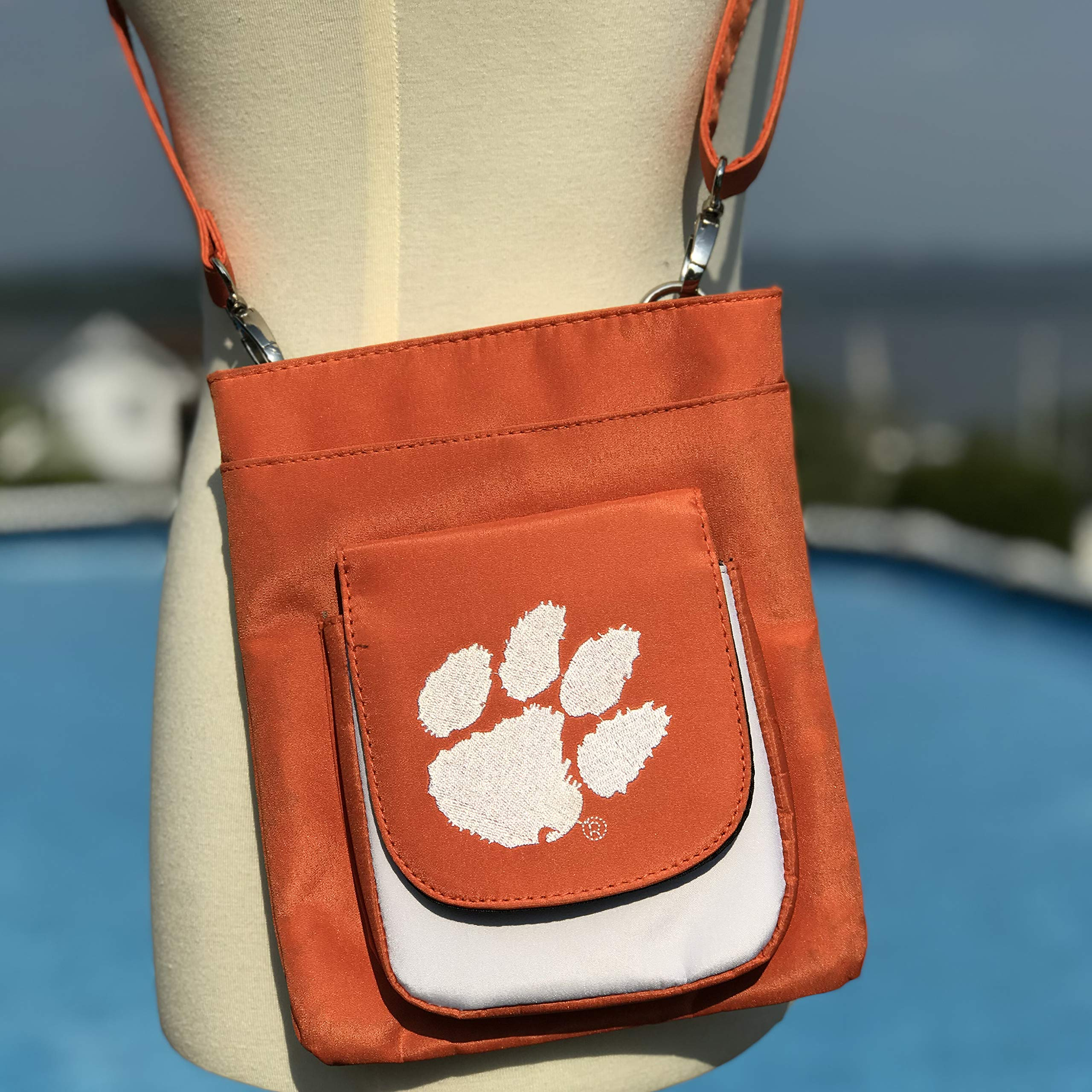 NCAA Clemson Tigers Crossbody Purse-Handbag-Travel