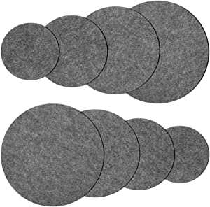 8 Pieces Plant Coaster Mat Planting Coasters Durable Plant Tray Flower Pot Saucers for Garden Courtyard Pot Mat Indoor Outdoor, 4/6/ 8/10 Inch (Neutral Grey)