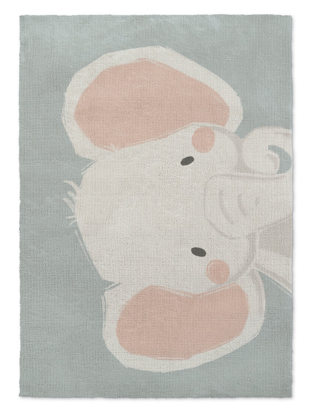 KAVKA Designs Elephant Area Rug, (Blue/Pink) - SHORTSTACK Collection, Size: 3x5x.5 - (JLJAVC011RUG35)