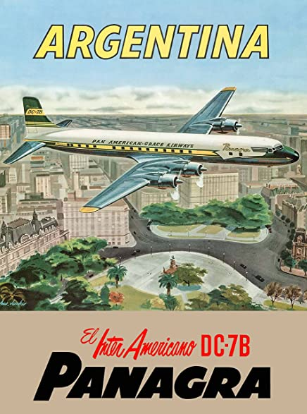 Panagra Argentina South America Air Vintage Travel Advertisement Poster