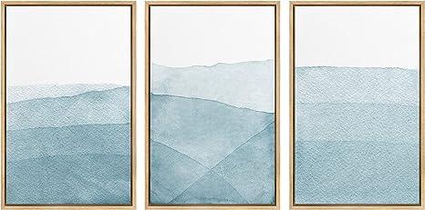 signwin 3 Piece Framed Canvas Wall Art Fog Canvas Prints Home Artwork Decoration for Living Room,Bedroom