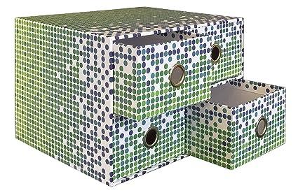 Schubladenbox blau 25 x 18 x 9 cm