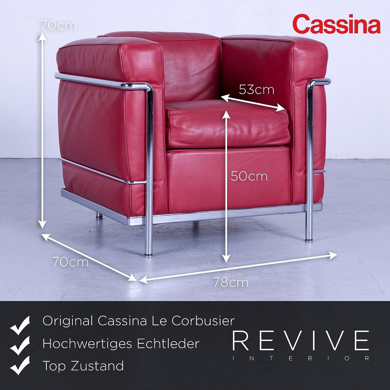 Cassina Le Corbusier LC 2 Designer Leder Sessel Rot ...