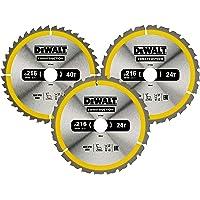 DEWALT Cirkelsågblad set DT1962 (för stationära sågar, sågblad ø: 216/30 mm, skärbredd: 2,6 mm, 24/40 tänder…