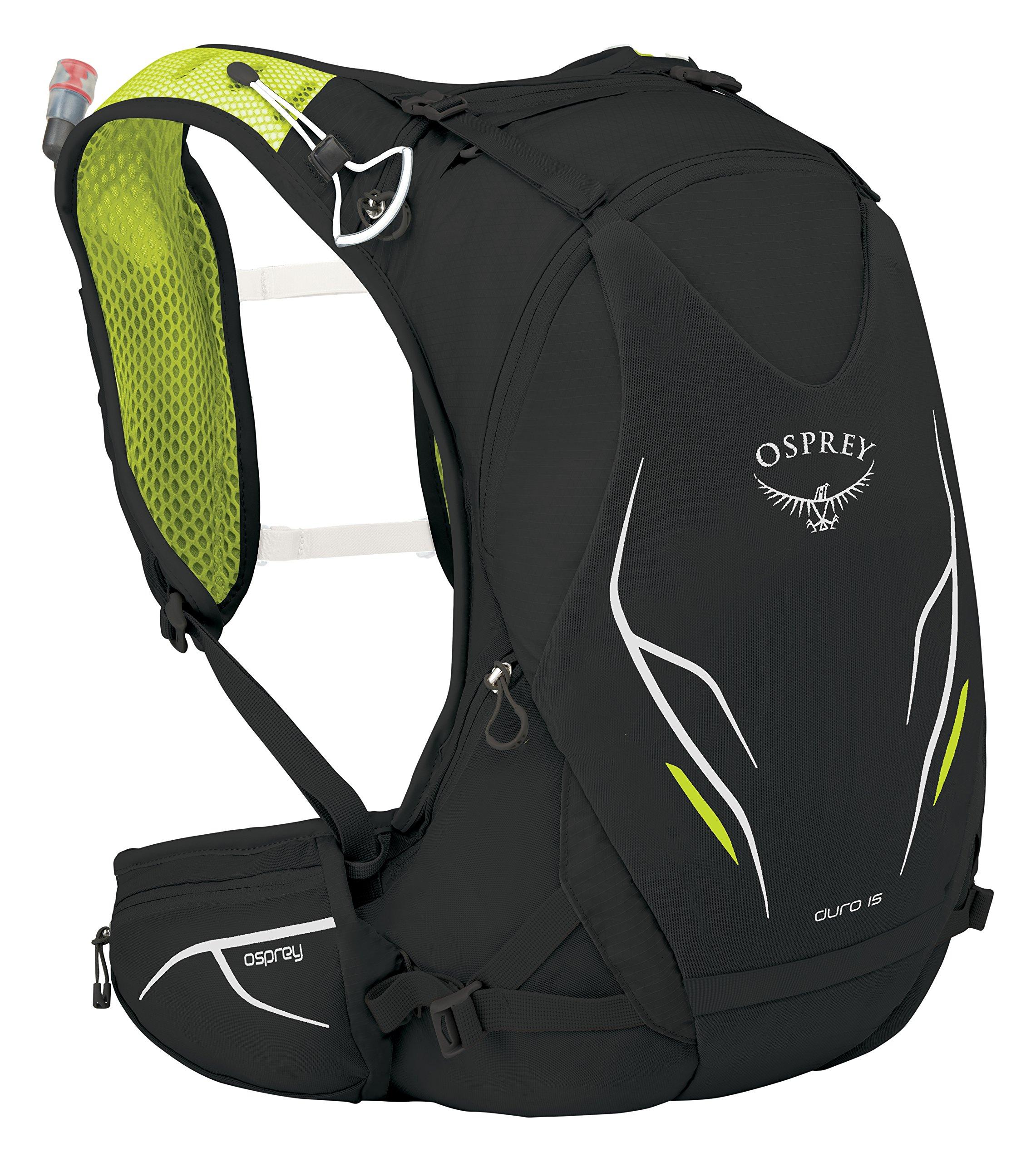 Osprey Packs Duro 15 Hydration Pack, Electric Black, S/M, Small/Medium