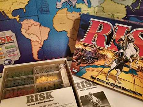 Risk 1998 Board Game with Army Shaped Pieces By Parker Brothers by ...