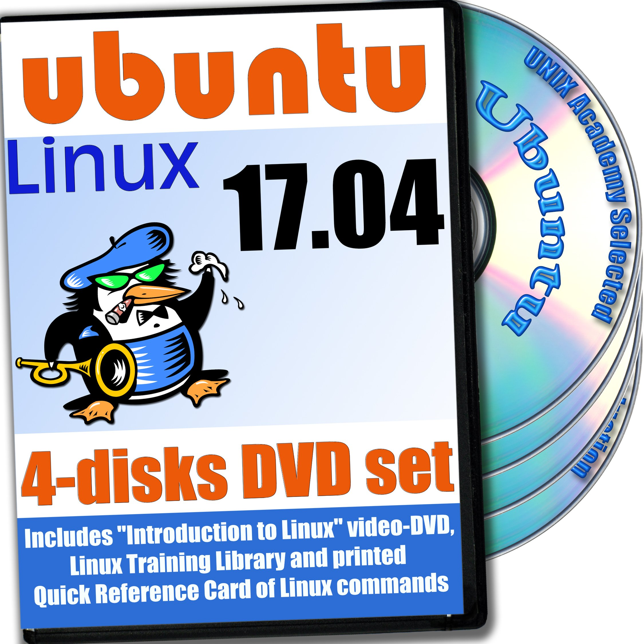 Ubuntu 17.04, Newest Linux Release 4-discs DVD Installation and Reference Set by PRIZIX