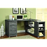 Coaster Home Furnishings L Shaped Office Desk - Weathered Grey