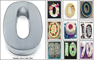 """EURO TINS Large Number Wedding Birthday Anniversary Baking Cake Pan 14"""" X 10"""" (0)"""