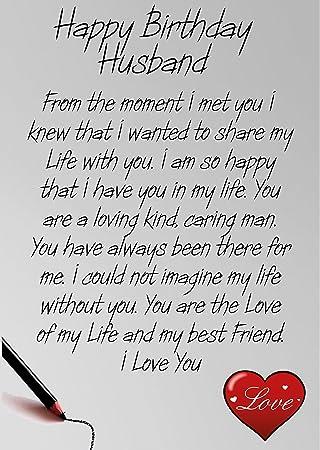 91ygpo2w9wlsy450g husband birthday card amazoncouk office products bookmarktalkfo Choice Image