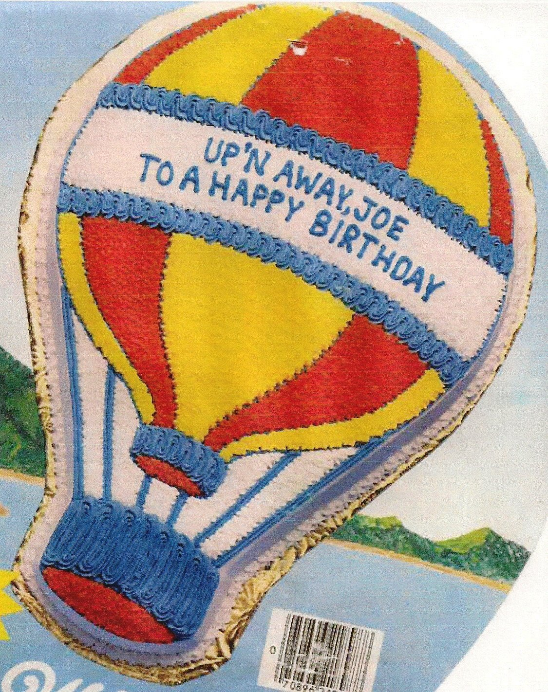 Wilton Cake Pan 502-3169, 1982 Upn Away Hot Air Balloon//Ice Cream Cone//Light Bulb
