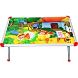 BabyGo Baby Kids Eating and Study Multipurpose Bed Table Foldable (60cm x 40cm) (Multicolor)