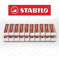 Stabilo Legend Gomme Plastique Blanc-Boite de 20