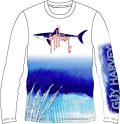 2e77ccd0 Guy Harvey Mako Shark UVX Pro Long Sleeve Performance T-Shirt