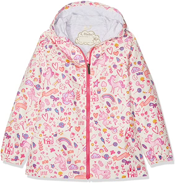 e5da96641c8a Amazon.com  HATLEY Unicorn Doodle Rain Jacket 5