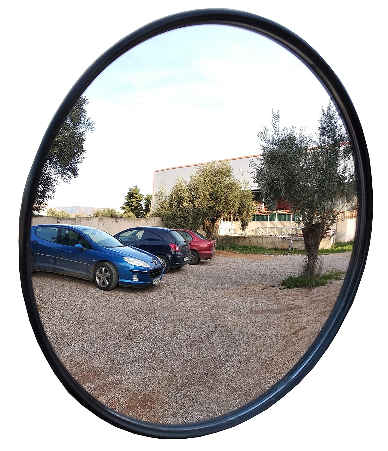 30cm // 12in Cocoarm Traffic Mirror Wide Angle Driveway Road Security Convex PC Mirror Indoor Outdoor Road Traffic Mirror Mounting Hardware Accessories Road Safety Shop Security