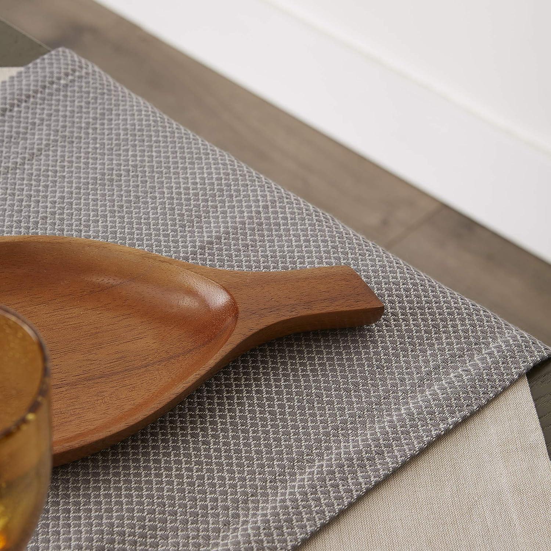 15x72 Black DII Bordered Dobby Woven Table Runner