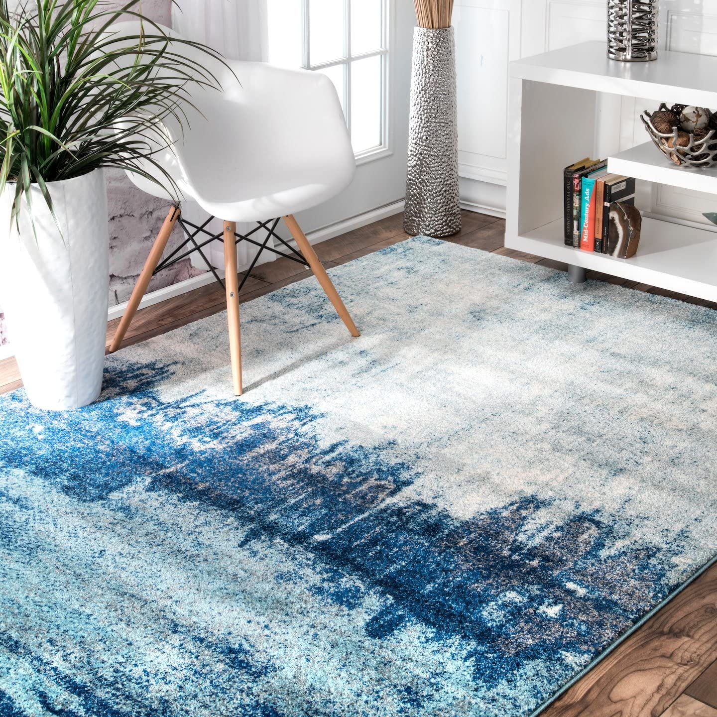 "nuLOOM Alayna Abstract Area Rug, 5' x 7' 5"", Blue"
