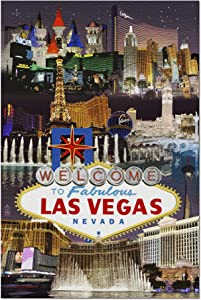 Quality Metal Tin Sign 12X16 Las Vegas Nevada Casinos and Hotels Montage Sign,Plaque Art Shark Island Boat Great Metal Tin Sign Metal Signage Wall Decoration Garage Shop bar Living Room Wall Art