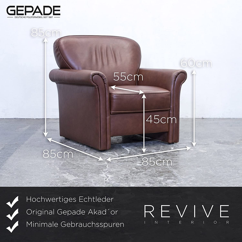 Amazon.de: Gepade Akad´or! Designer Sofa Garnitur Leder Braun ...