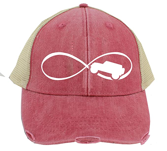 25a23158 Amazon.com: Infinity Jeep Hat - Red Mesh Vintage - Trucker Hat ...