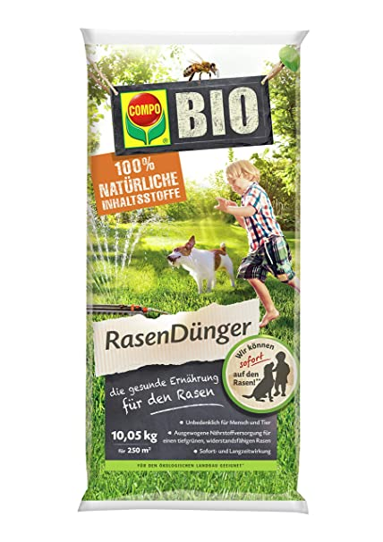 Fabelhaft COMPO BIO NaturDünger für Rasen, Natürliche Sofort- und @BO_24