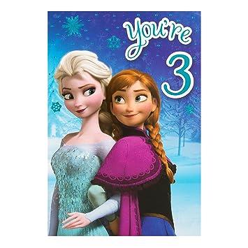 Hallmark Disney Geburtstagskarte Zum 3 Geburtstag Mit Frozen Design
