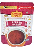 Express Feast Ready to eat Pepper Rasam, 3 Minutes Easy Cook, Instant Meal Mix, No Preservatives and Artificial colors (pack of 2) (Red)