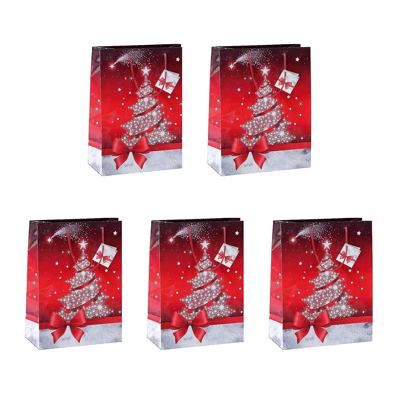 Sparkling Tree SIGEL GT022 Bolsa para regalos de Navidad grande 260x330x120 mm 5 unds.