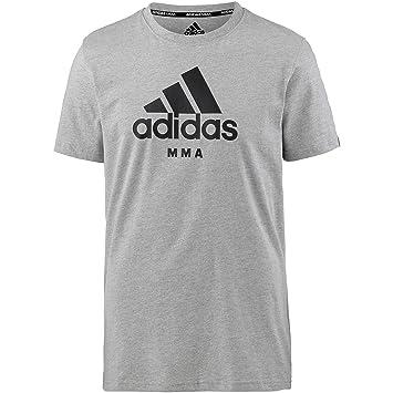 Adidas Community Camiseta MMA Gris Comunidad Camiseta MMA Negro con Blanco-Azul Imprimir S -