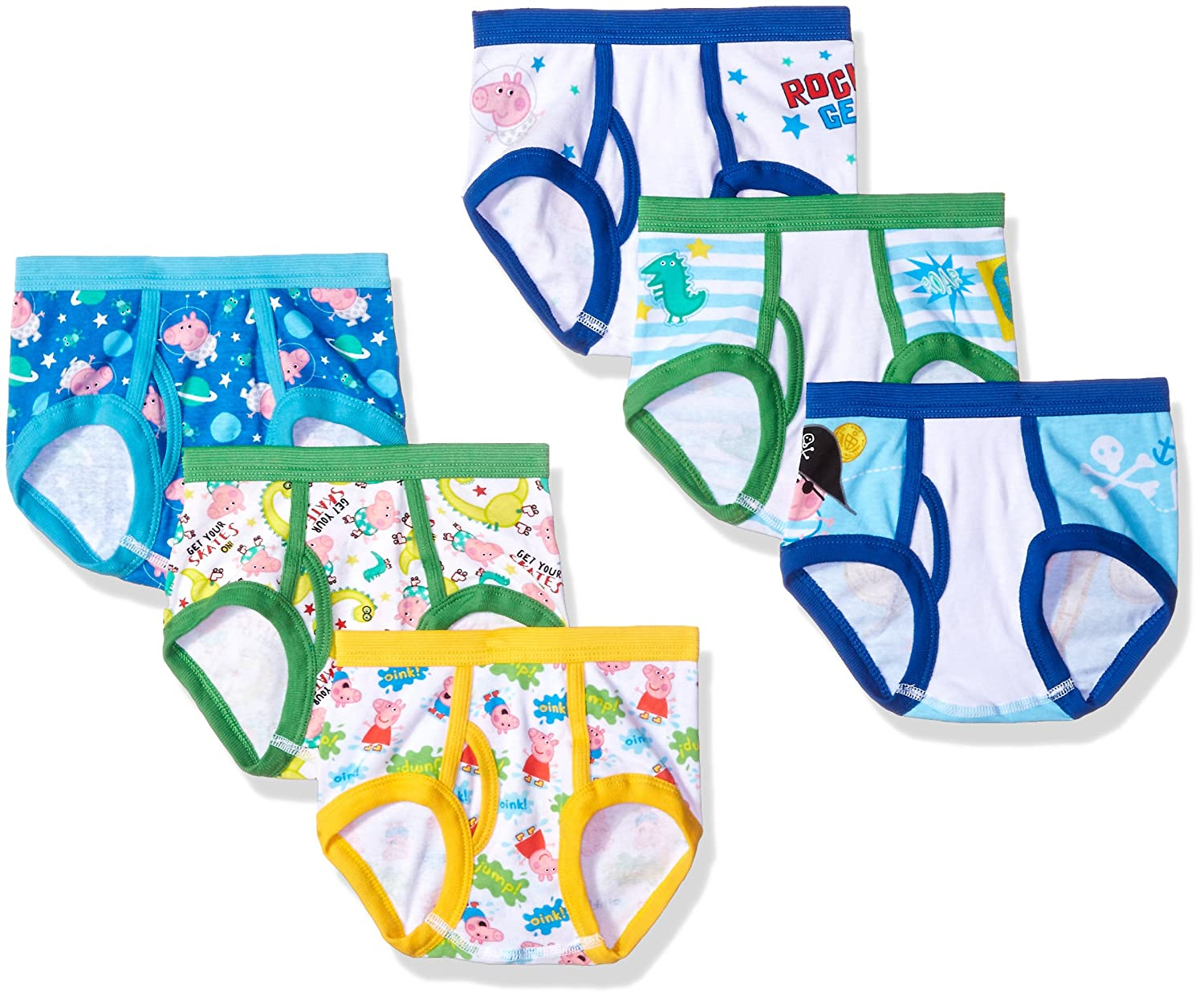 Peppa Pig 7-Pack Toddler Boy Brief TBUP6027