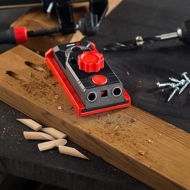 tasselli e custodia per il trasporto. Kit 2 in 1 con 78 accessori viti punte per trapano tra cui morsetto a F NoCry Pocket Hole Jig System