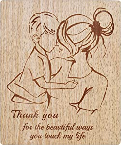 Heart's Sign Mother and Son Wooden Plaque Thank You Keepsake from Son   Mom and Son Gifts   Mom Birthday Gifts from Son   Mother Gifts   Gifts for Mom from Sons