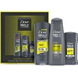 DOVE MEN + CARE Limited Edition Sportcare Holiday Grooming Gift Pack Active+fresh Body Wash, Antiperspirant, and Shampoo+cond