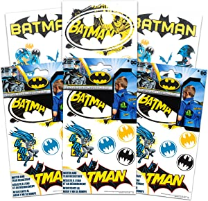 DC Comics Batman Stickers Decals Set -- 6 Sheets, Water & Tear Resistant Stickers for Laptop, Car, Backpacks (Batman Party Supplies)