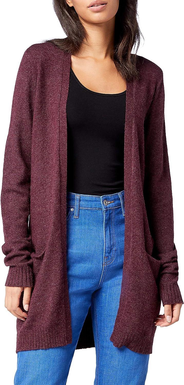TALLA 38 (Talla del fabricante: Medium). Vila Viril L/s Open Knit Cardigan-Noos Chaqueta Punto para Mujer