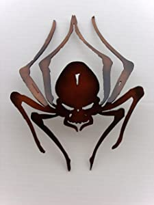 "Spider, 3d, Metal Art, Office, Home, Wall Decor, Approximate Size: 8"" W X 10"" H"