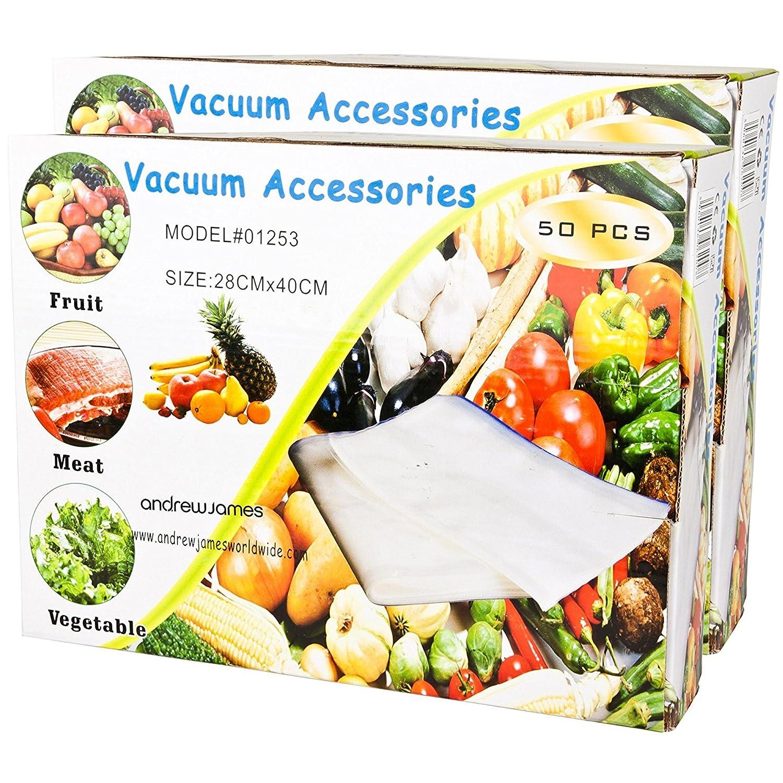Andrew James Vacuum Sealer Bags x 50 28 cm x 40 cm