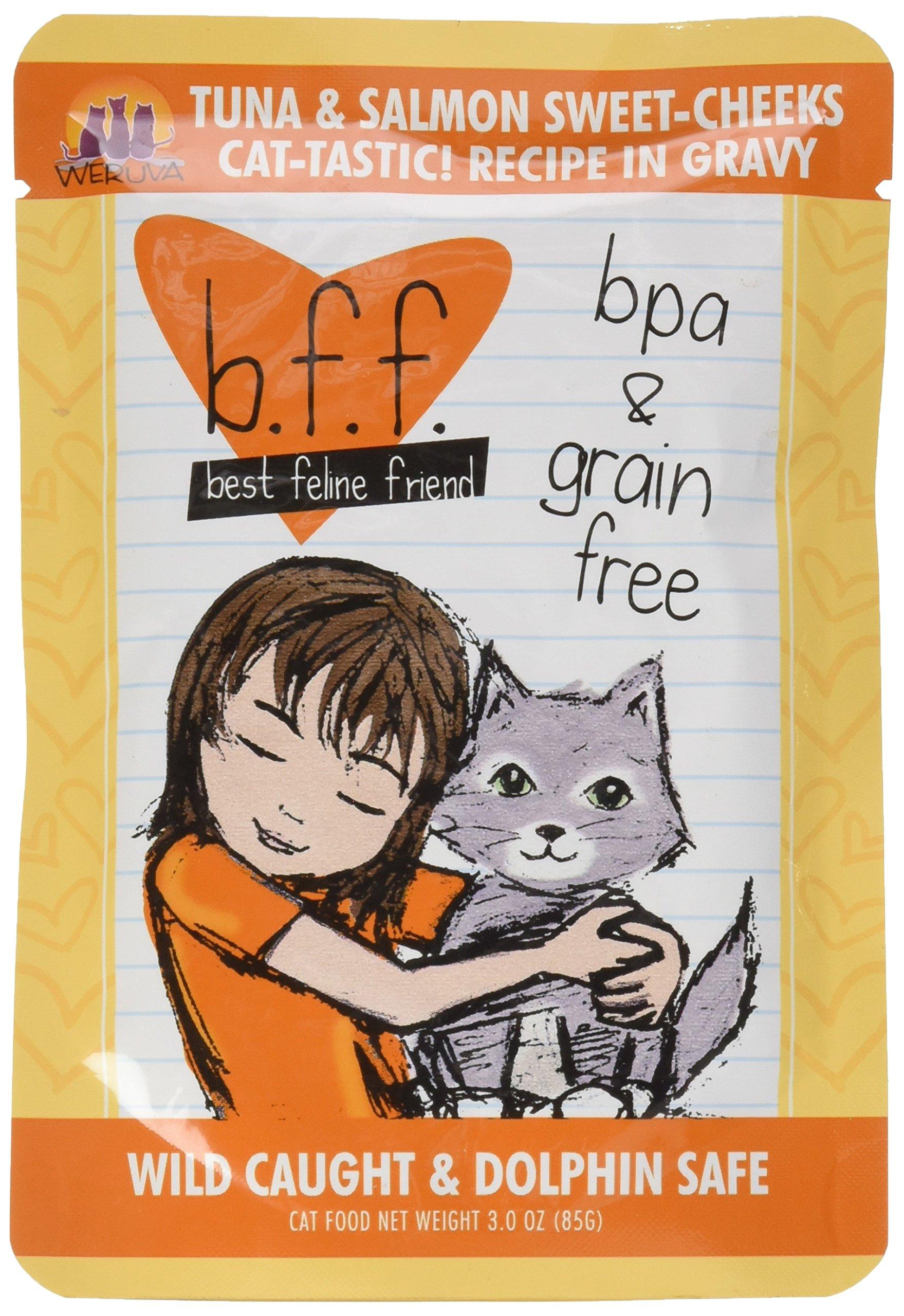 Best Feline Friend Tuna & Salmon Sweet Cheeks Cat Food 12/3-oz Pouches
