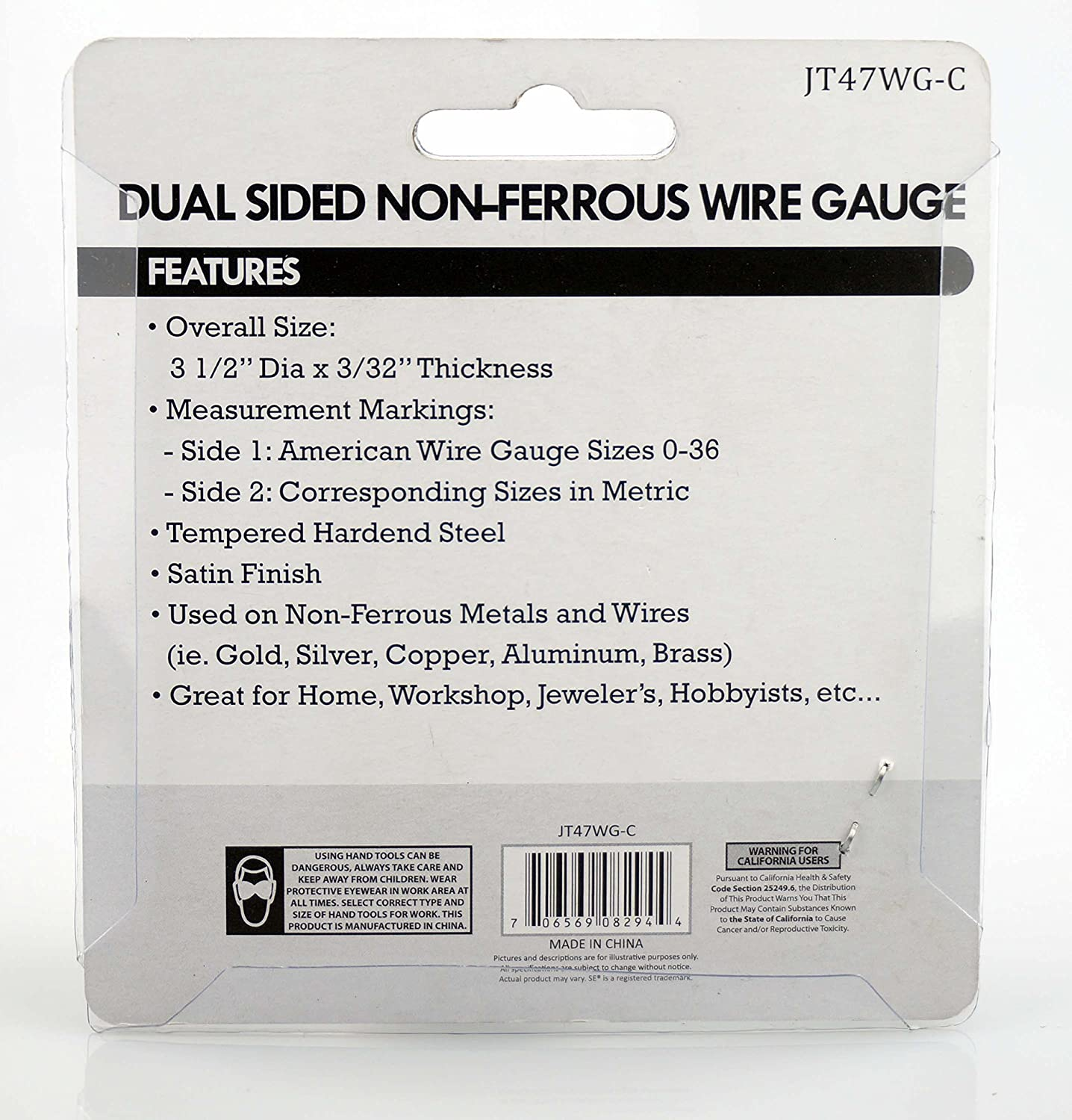 Amazon.com: SE JT47WG-C Dual-Sided Non-Ferrous Wire Gauge, 0-36 ...