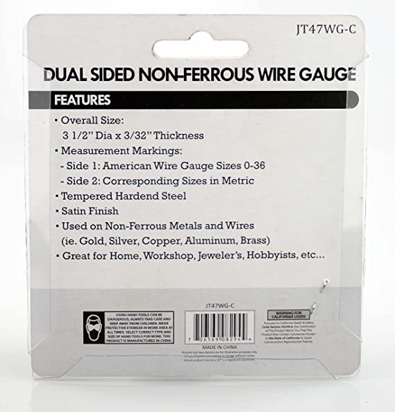 Amazon se jt47wg c dual sided non ferrous wire gauge 0 36 amazon se jt47wg c dual sided non ferrous wire gauge 0 36 american standard awg and sae home improvement greentooth Gallery