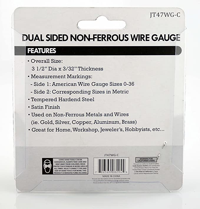 Amazon.com: SE JT47WG-C Dual-Sided Non-Ferrous Wire Gauge, 0-36 ...