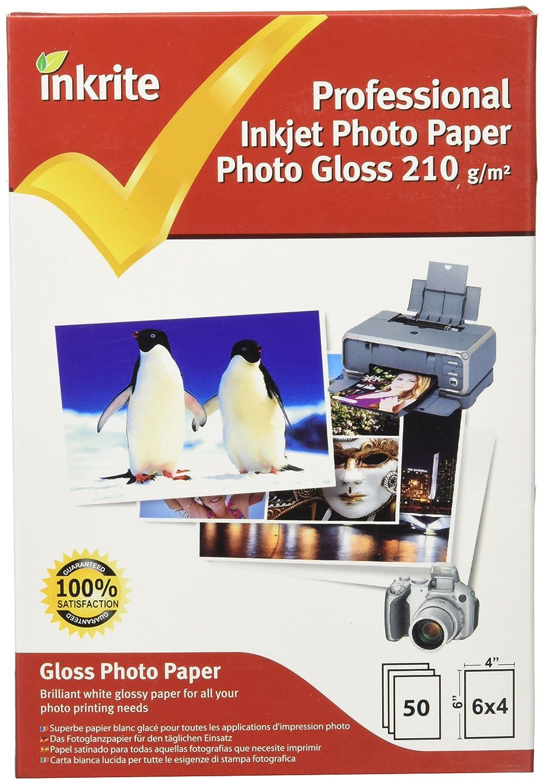 Inkrite 6 x 4, 210 gsm Premium Photoplus Professional – Carta fotografica lucida (confezione da 50 fogli) PPIPG2106450