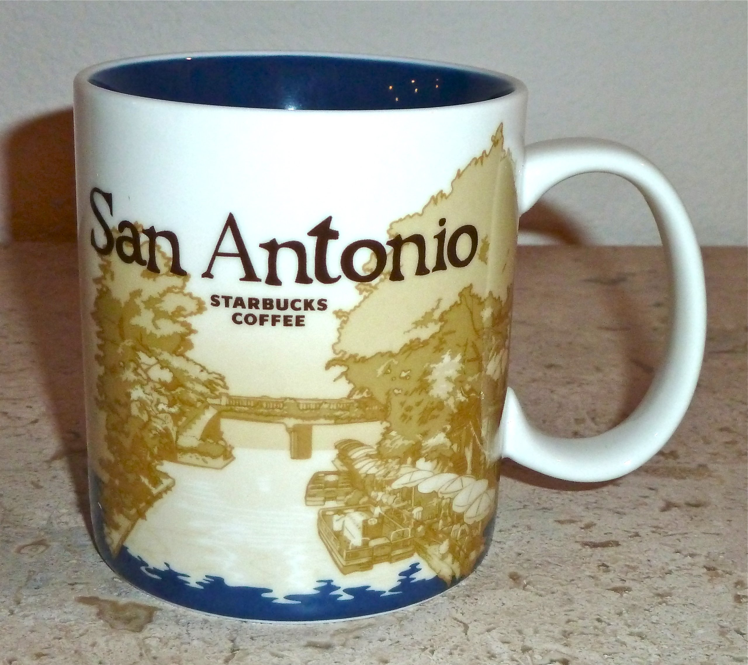 Starbucks 2010 Collector Series San Antonio City Coffee Mug 16 Ounce Size