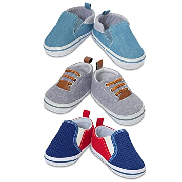 Amazon.com  3 Pack Infant Boy Shoes- Assorted Baby Boy Casual Shoes ... 0d02efcf6